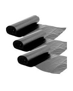 90L Black LDPE Refuse Sacks on a roll