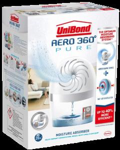 Unibond Aero 360 Pure Moisture Absorber Device + 2 pack refill tabs