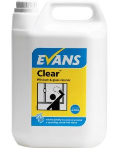 Evans Clear Glass Cleaner 5L