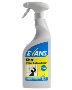 Evans Clear Glass Cleaner 6x750ml