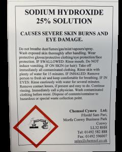 Sodium Hydroxide 25% 25L