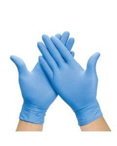 Disposable Powder Free Nitrile Blue Gloves Box 100