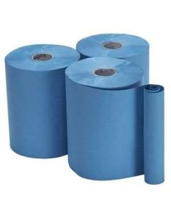 1ply Blue Embossed Roll Towel 200m x197mm (RTB200) Pack of 6