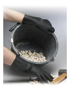Shield Industrial Rubber Gloves Black Gloves - Large
